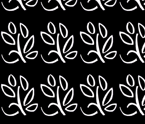 PICT0242_Dancing Leaves  fabric by josephinefletcher on Spoonflower - custom fabric