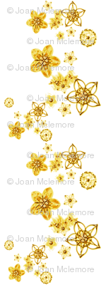 Faux Metallic floral gold