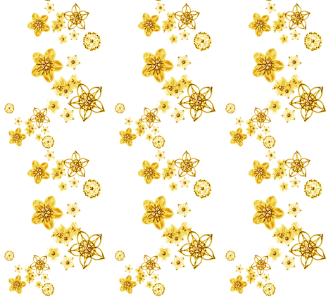 Faux Metallic floral gold fabric by joanmclemore on Spoonflower - custom fabric