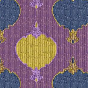 romano ikat2 purple blue gold