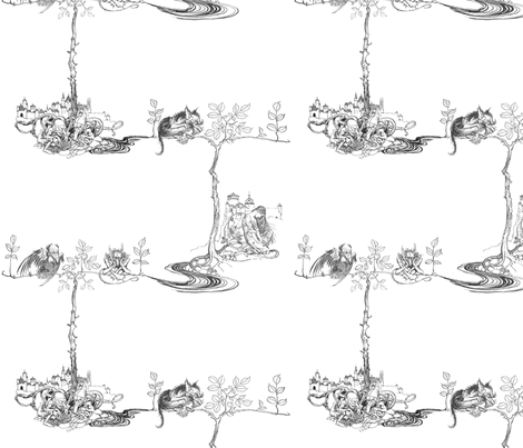 Undine fabric by victoriagolden on Spoonflower - custom fabric