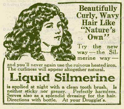 Liquid Silmerine Hair Care 1918 advertisement