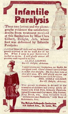 1918 McLain sanitarium advertisement polio treatment