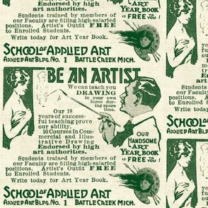1918 ad for Correspondence School  Art Lessons