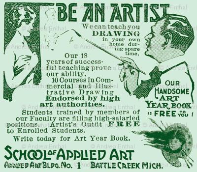 Be An Artist 1918 Advertisement