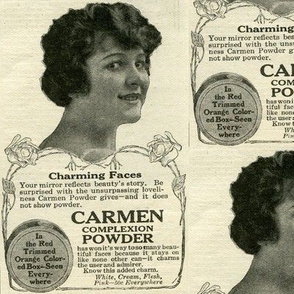 1918 Carmen Complexion Powder cosmetics advertisement