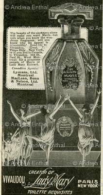 1918 dancing nymphs perfume advertisement