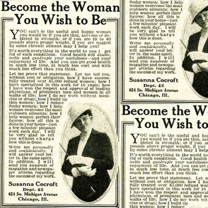 1918 Ad: Become the Woman You Want to Be