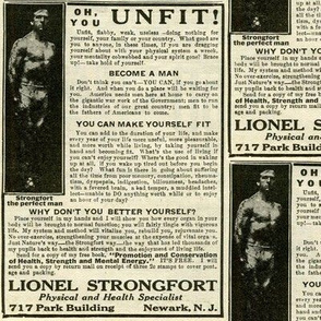 Oh You Unfit, Flabby, Weak Do-Nothing Man 1918 Ad (b&w)