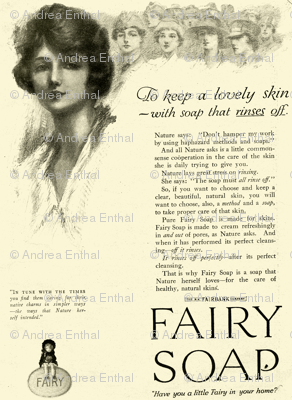 1918 Fairy Soap Beauty Advertisement