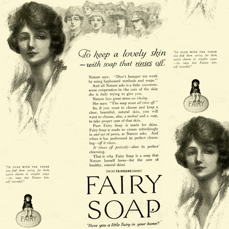 1918 Fairy Soap Beauty Advertisement fabric by edsel2084 on Spoonflower - custom fabric