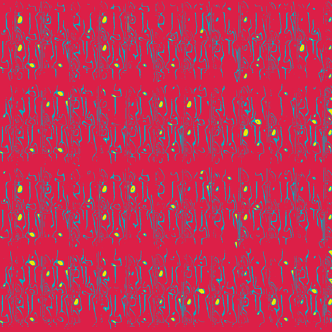 squigglies_-_rich_red fabric by maplewooddesignstudio on Spoonflower - custom fabric