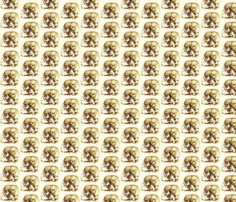 da_vinci_skull_sketch fabric by tequila_diamonds on Spoonflower - custom fabric