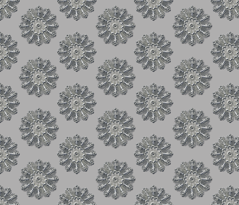 Medallion chrome patina fabric by joanmclemore on Spoonflower - custom fabric