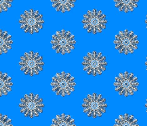 Medallion chrome blue background fabric by joanmclemore on Spoonflower - custom fabric