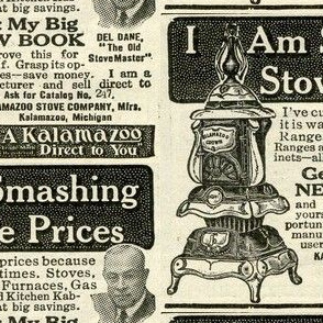 Pot Belly Stove ad from 1918