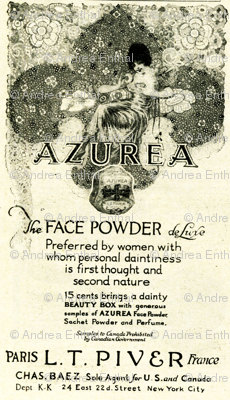 1918 Face Powder Beauty Advertisement