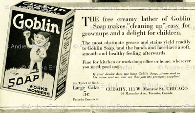 1918  Goblin Soap Advertisement