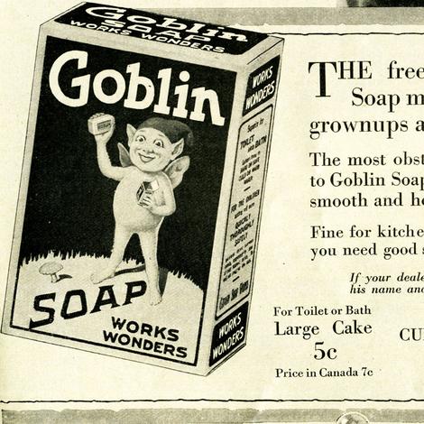 1918  Goblin Soap Advertisement fabric by edsel2084 on Spoonflower - custom fabric