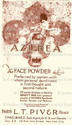 1918 Azurea Face Powder advertisement