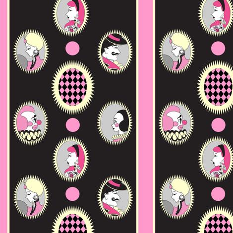 vintage circus cameo stripe fabric by beesocks on Spoonflower - custom fabric