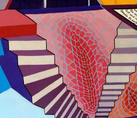 love land stairs fabric by jasmine_mansbridge on Spoonflower - custom fabric