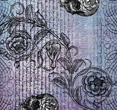 Diamond Skull Rose (Lavender-Blue)