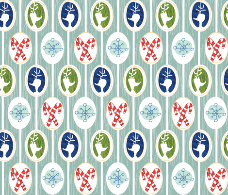 Christmas Cameo  fabric by gsonge on Spoonflower - custom fabric