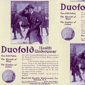 1918 woolen underwear ad