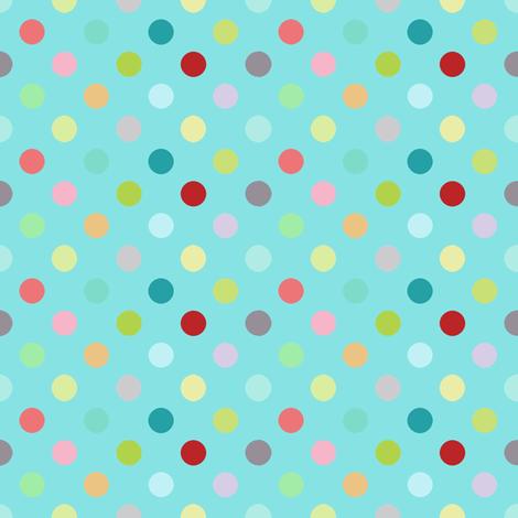 Playground dots in aqua fabric by katarina on Spoonflower - custom fabric