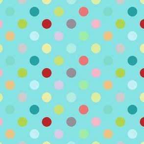 Playground dots in aqua