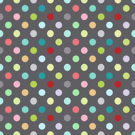 Playground dots in grey fabric by katarina on Spoonflower - custom fabric