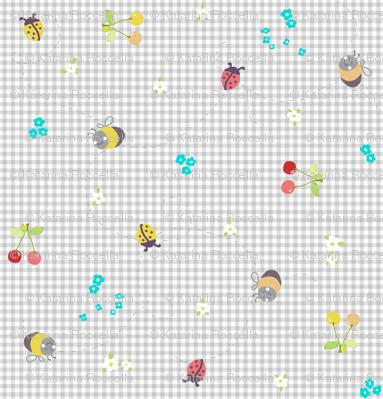 spring gingham grey