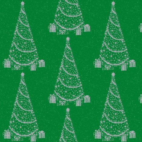 xmas tree green fabric by paragonstudios on Spoonflower - custom fabric
