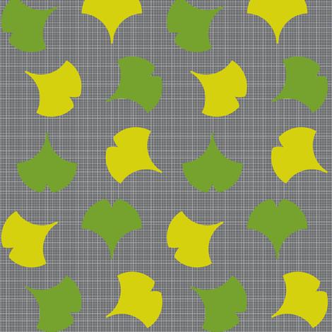 Spring Ginkgo 1B fabric by nekineko on Spoonflower - custom fabric