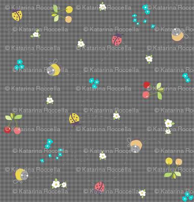 spring gingham dark grey