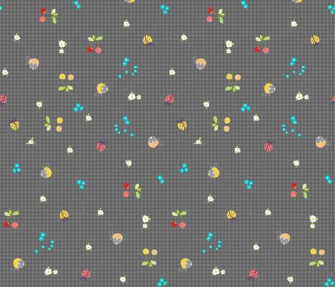 spring gingham dark grey fabric by katarina on Spoonflower - custom fabric