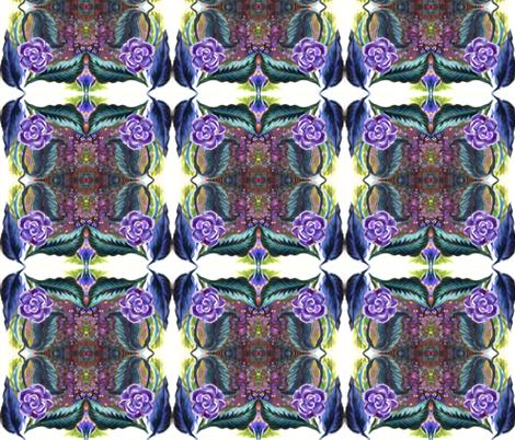 purple_painted_flower_tiled fabric by vinkeli on Spoonflower - custom fabric
