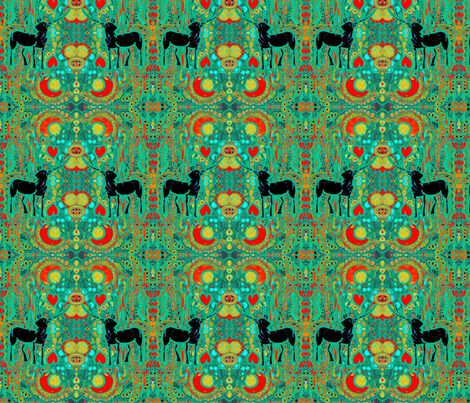 deer-redgreen fabric by bronteyluxopiazza on Spoonflower - custom fabric