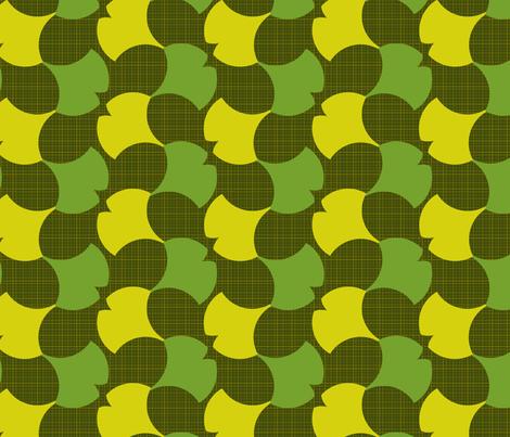 Spring Ginkgo 2A fabric by nekineko on Spoonflower - custom fabric