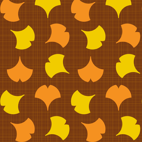 Autumn Ginkgo 2B fabric by nekineko on Spoonflower - custom fabric