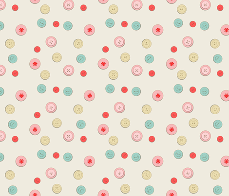 Lost in my buttons fabric by kato_kato on Spoonflower - custom fabric