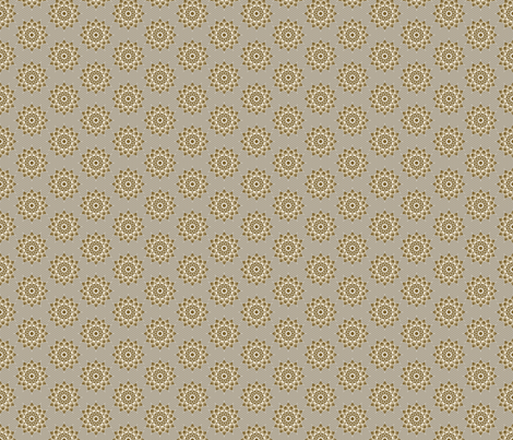 Medallion taupe fabric by joanmclemore on Spoonflower - custom fabric