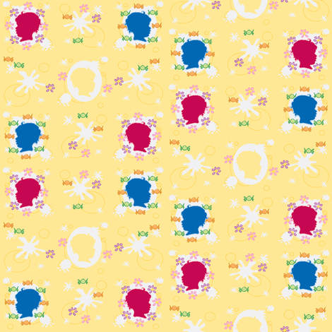 Baby Cameo doll-scale fabric by mikka on Spoonflower - custom fabric