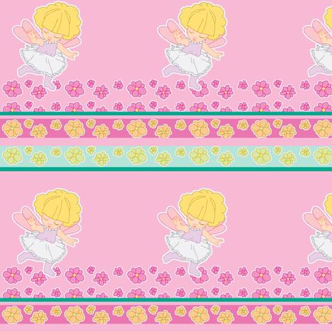 Flower Fairy doll-scale fabric by mikka on Spoonflower - custom fabric