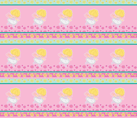 Flower Fairy mini fabric by mikka on Spoonflower - custom fabric