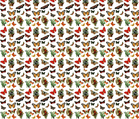 Victorian butterflies fabric by tequila_diamonds on Spoonflower - custom fabric