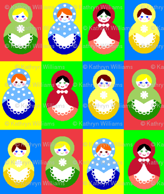 12 russian dolls - colour changed