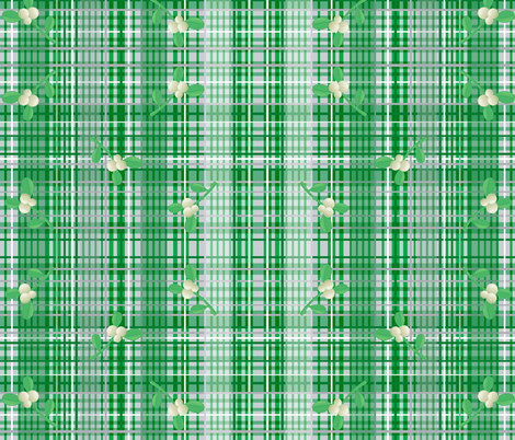 Christmas berry weave fabric by paragonstudios on Spoonflower - custom fabric