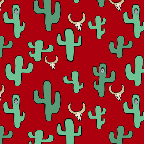 Owls & the Desert II. fabric by pond_ripple on Spoonflower - custom fabric